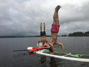 Fitness-sur-paddle-gonflable