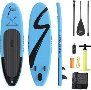 Kit paddle streakboard pagaie pompe leash kit de secours