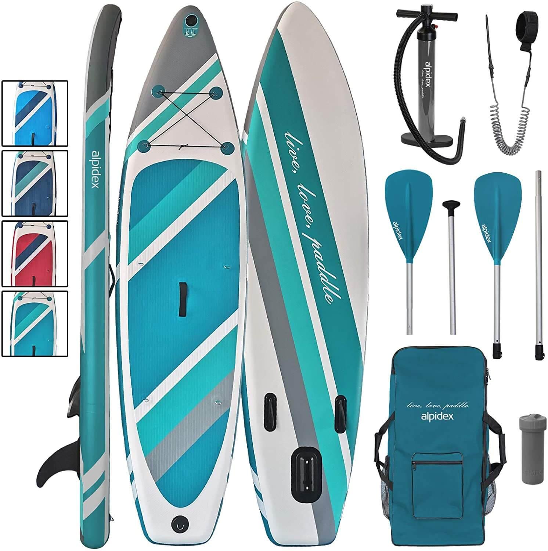 Kit paddle Alpidex pagaie pompe sac leash