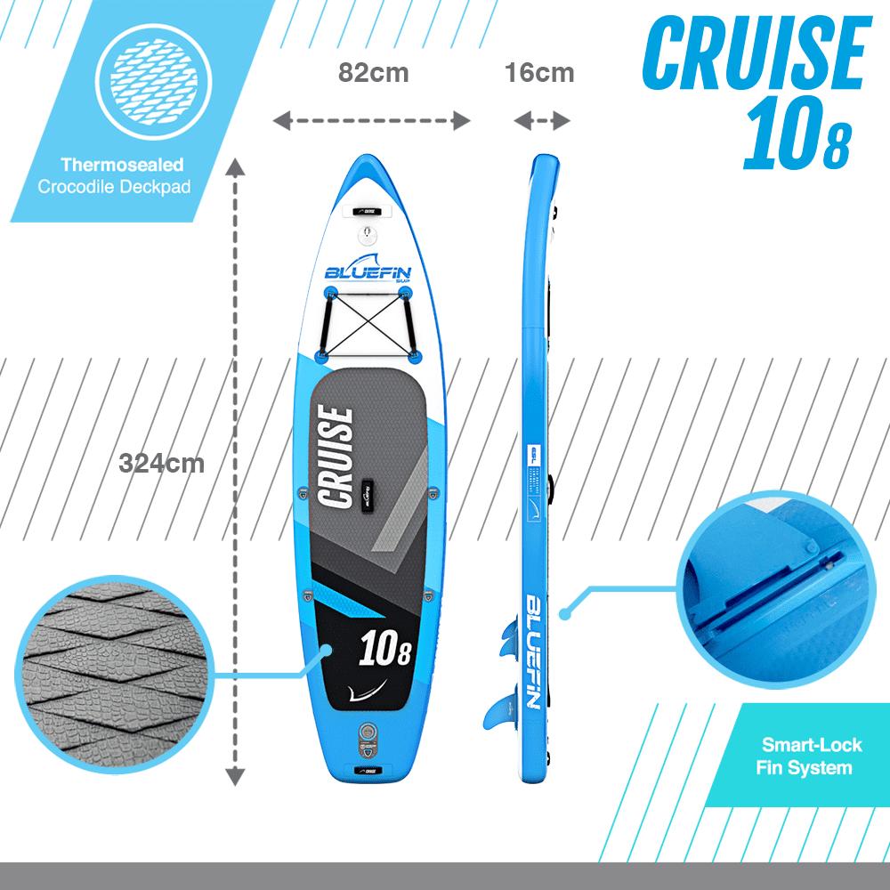 Bluefin cruise 10'8 dimensions