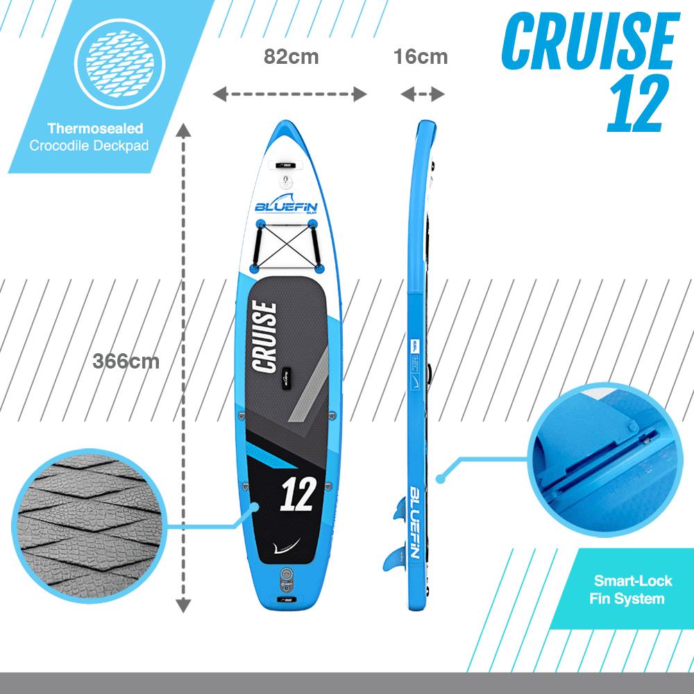 Bluefin cruise 12' dimensions