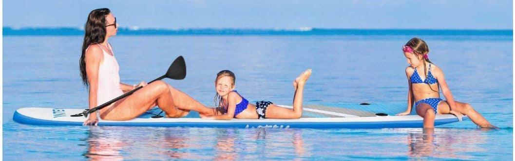 INTEY femme avec enfants sur paddle