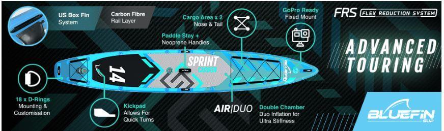 Bluefin Sprint Carbon accessoires