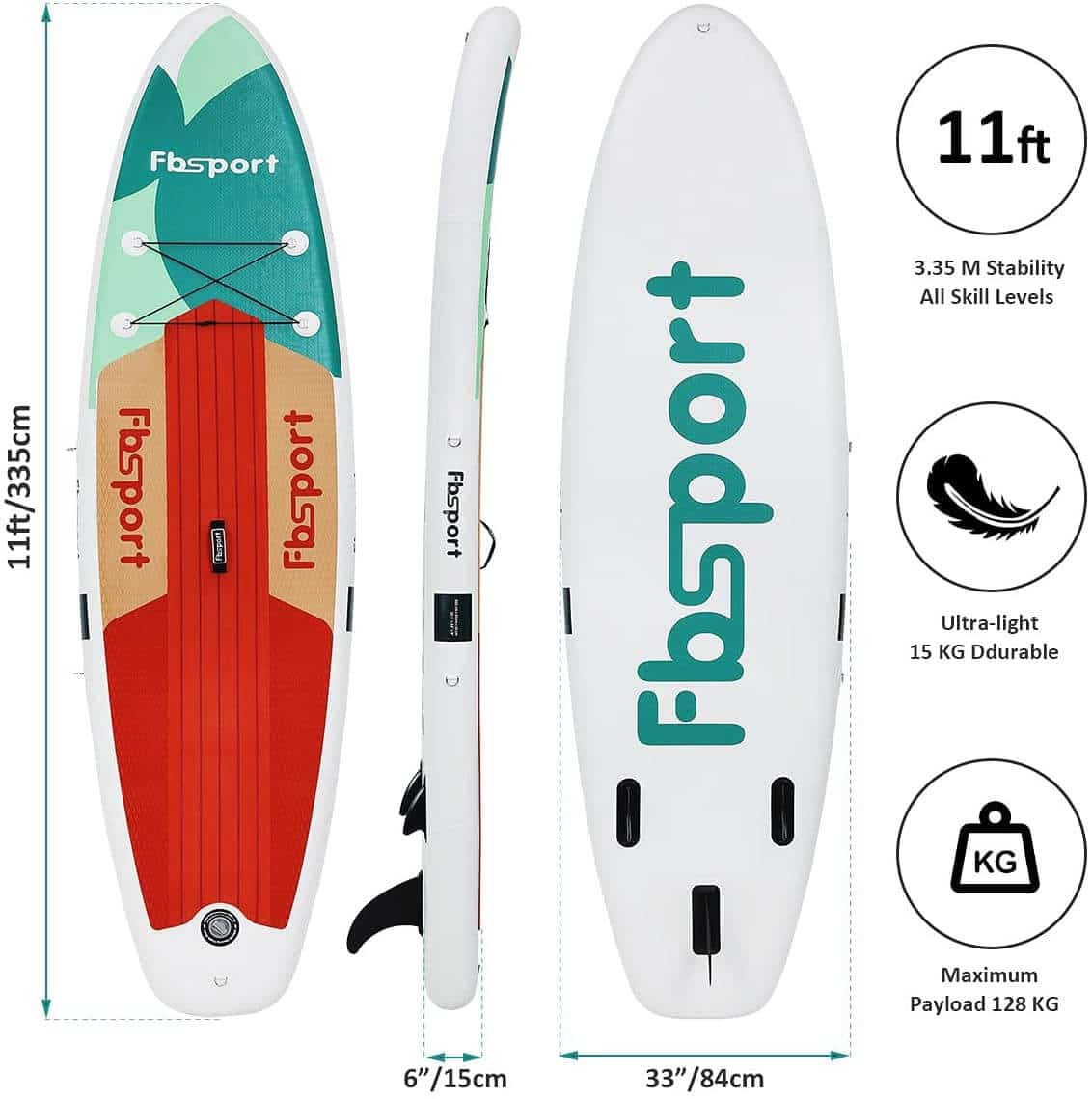 Paddle Fbsport dimension poids