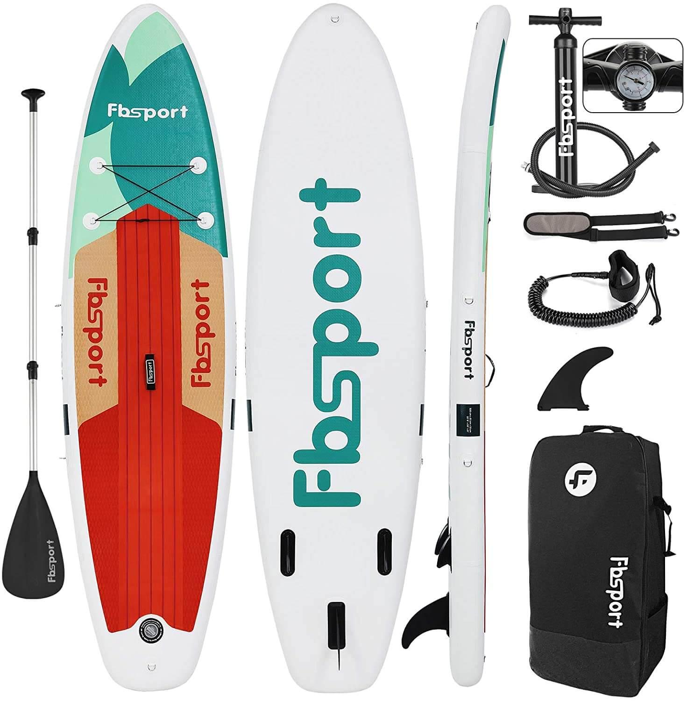 Fbsport paddle kit pompe leash aileron sac